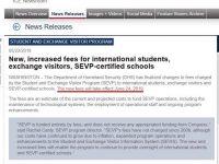 美國學生簽證(F1)要繳交的國土安全費預計於六月二十四日調漲,從$200調為$350美元喔!