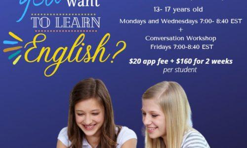 [TALK 青少年線上英文課程] 小班制,6/15 (一) 晚上確定開課
